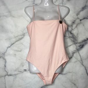 NEW F21 1 Piece Swimwear Light Pink Large NWT